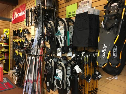 Winter gear at your finger tips; cross country ski packages & snowshoes