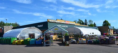 Seasonal Garden Center has selections from many Northland area vendors. We try to bring new options each year to liven and beautify your home, second home or cabin! We're set up in May each year, weather permitting, and ready for beautiful baskets for mom each Mother's Day!