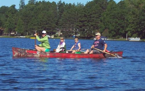 Crystal clear lakes make paddling adventures a fun family activity.
