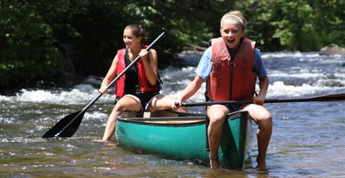 Navigable rivers and creeks connect 9 lakes for miles of paddling adventure.