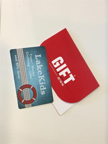 Gift Cards available to purchase online or in the store; perfect gift for everyone!