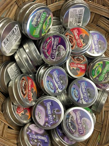 Crazy Aaron's: Thinking putty, high quality, silicone-based putty that is safe, nontoxic and will never dry out. It's a great for kids and adults!