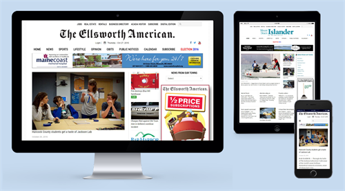 """The Ellsworth American"" and the ""Mount Desert Islander,"" Ellsworth and Bar Harbor, Maine"