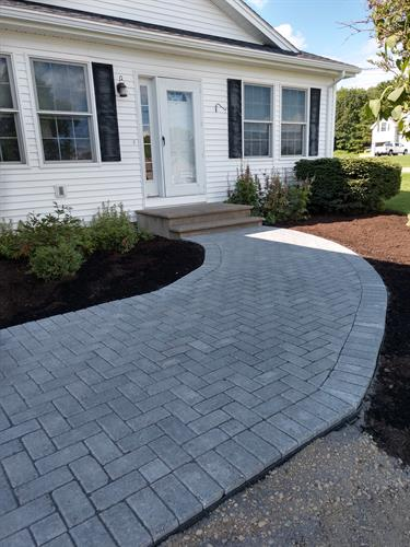 A walkway installed in 2019 for a customer