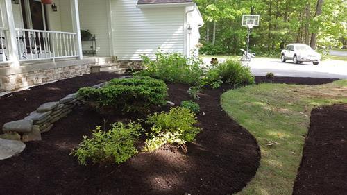 Mulch adds depth to a garden