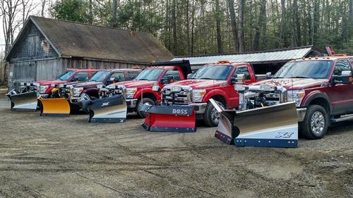 Our Snow Removal Fleet is ready to serve your business or home!