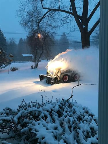 One or our snowblowers hard at work