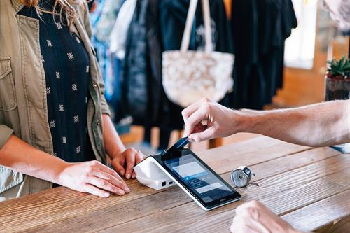 Poynt is SpotOn's most popular payment processing hardware. Take one look at it, and it's no wonder why. Poynt is a sleek, state-of-the-art hybrid POS system with the mobility you need to get out from behind the counter to wherever your customers are.
