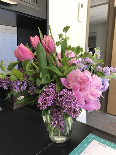 Thank you for the lovely flowers Kim McPheters-Carr & Hilary Gotlieb of NextHome!