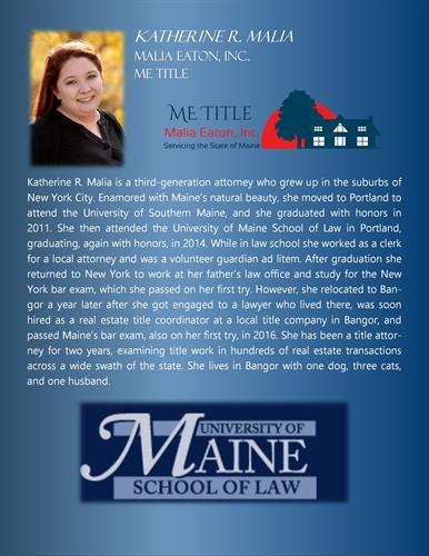Attorney Katherine R. Malia BIO