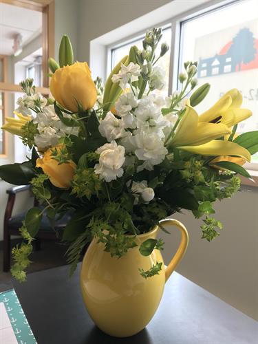 Thank you for the lovely flowers Leighton & Longtin!