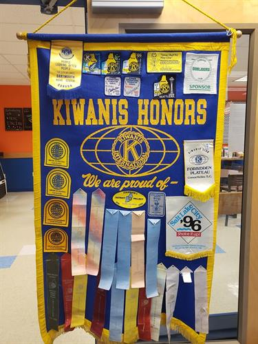 Kiwanis awards for excellence.