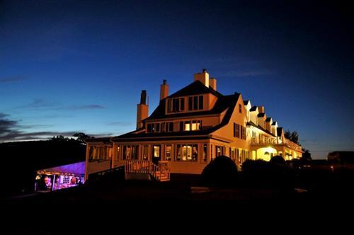 The Inn after dark