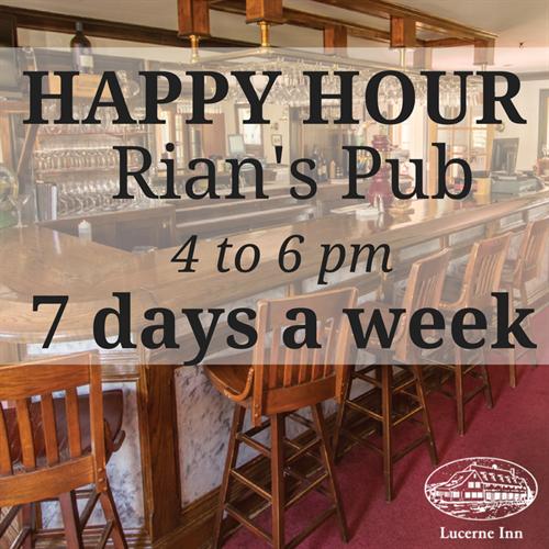 Happy Hour 7 days a week