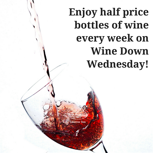 Join us for half price bottles of wine every Wednesday!