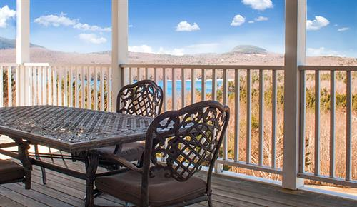 The view from the Overlook's Lakeview Suites