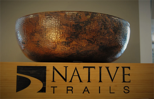 Native trails vessel sink