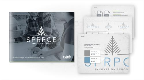 SPRPCE Innovation School Brand Guidelines Sample