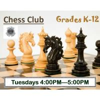 Chess Club Grades K-12 Palmer Public Library