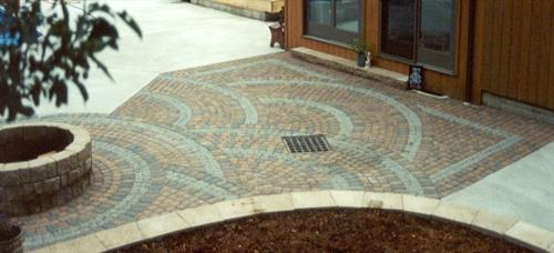 Custom patterns make a patio stand out.
