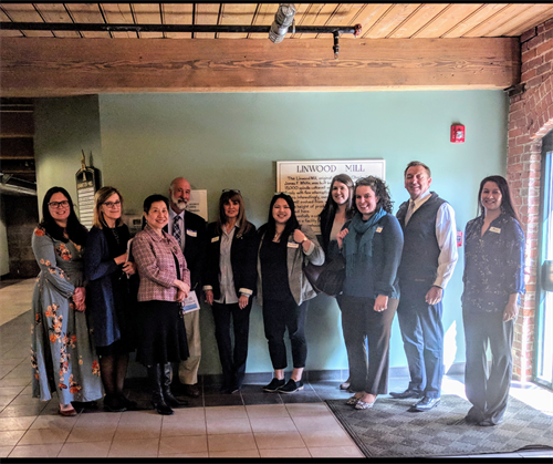 Executive Director Sheila Cuddy and Loan Program Coordinator Melissa Fales recently attended a meeting of the Central Mass Region Small Business Assistance Network at the Linwood Mill in Whitinsville.