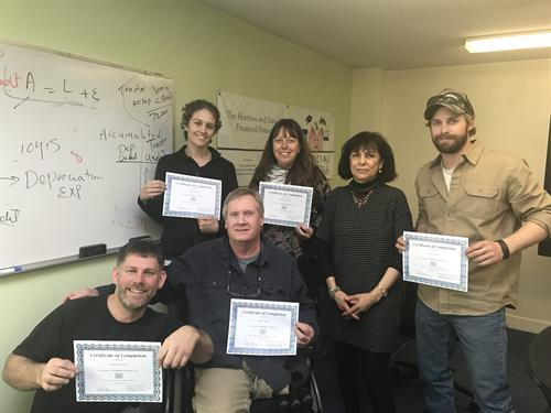Recent graduates of a QuickBooks for Farmers class.