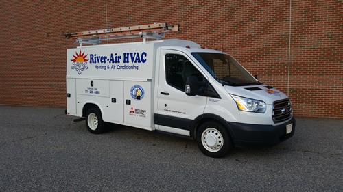River-Air HVAC - the Install truck