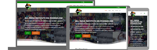 All India Institute on Evangelism Website and Office 365