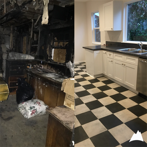 Kitchen Fire Before and After