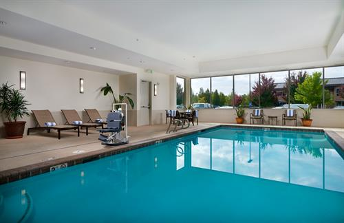 Indoor heated saltwater Swimming Pool and Hot tub