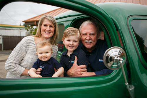 Ed Gormley (3rd Generation); Kori Gormley-Huppert (4th Generation); Kort & Kaden Huppert (5th Generation)