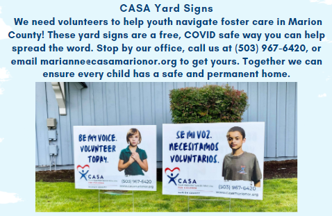 Pick up a yard sign today!