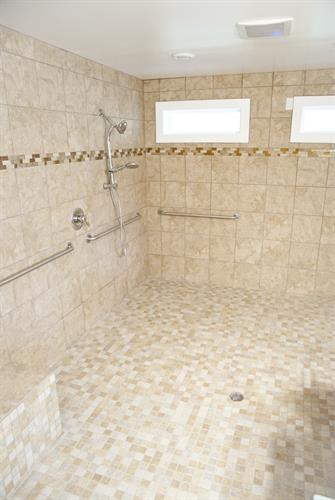 Heated Shower Room