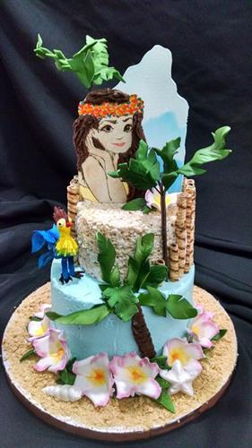 Buttercream themed celebration cake