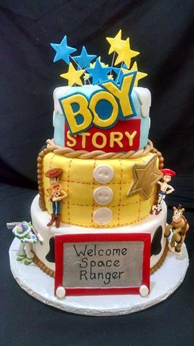 Fondant designed celebration cake