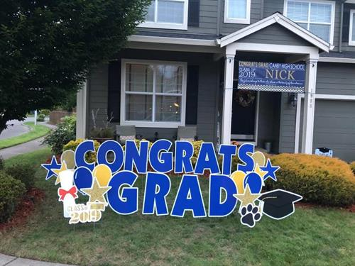 Graduation Yard Card