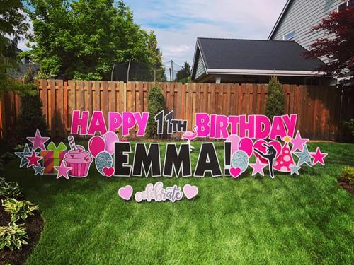 Personalized Birthday Yard card
