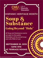 """Hispanic Heritage Month Soup and Substance: Going Beyond """"Hola"""""""
