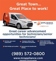 Immediate opening for an experienced Appliance Technician!