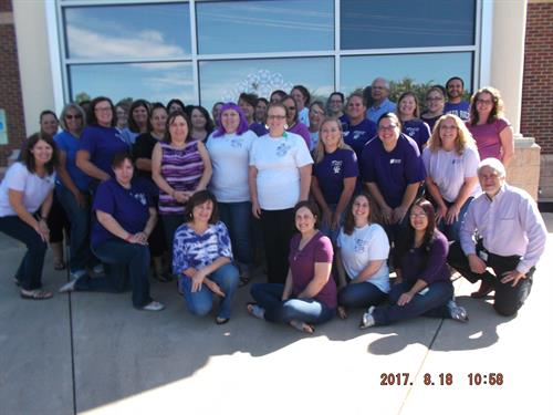 Administration employees showed their support for Paint the Town Purple for Alzheimer's Awareness