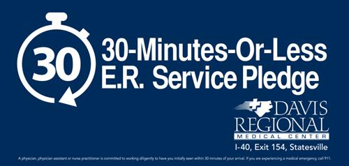 ER 30-minute service pledge