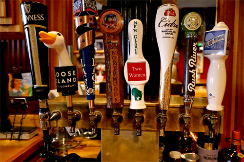 Ever changing beer on tap