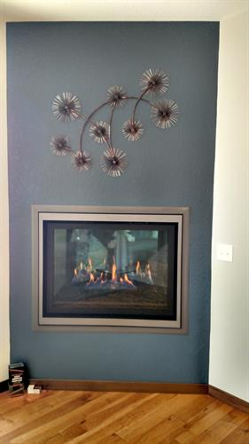 Stellar floating vortex fireplace. Parade of Homes 2015