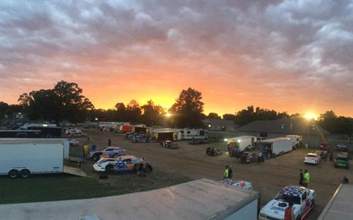 Sun Setting on Race Night