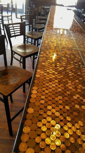 British penny top bar