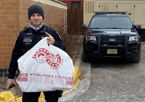 SUBPRISE! Free subs to the La Crosse Police Department!