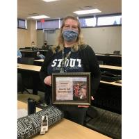 Berglund Receives May University STaff Appreciation Award