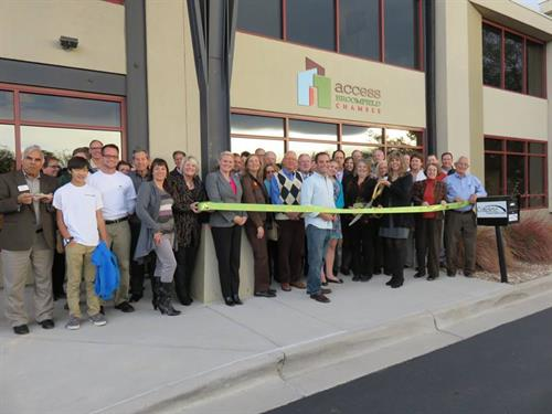 Ribbon Cutting for New Access Broomfield Chamber Brand