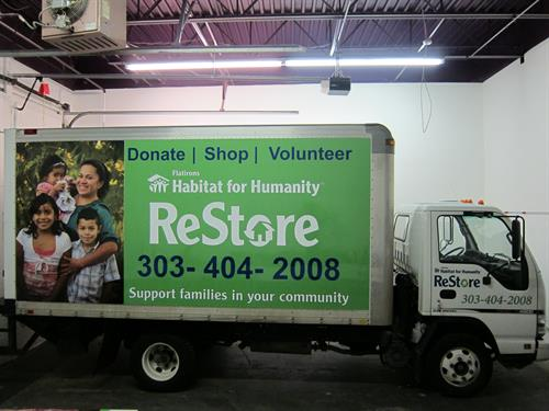 Habitat For Humanity ReStore box truck wrap