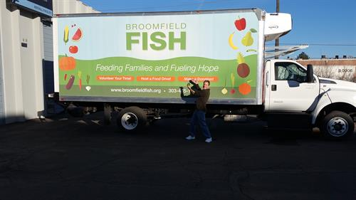 FIsh truck wrap by Reflection Signs and Graphics